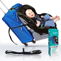 CAR SEAT STRAP- Turn your CarSeat and Carry-On Luggage into an Airport Stroller – Best for ...
