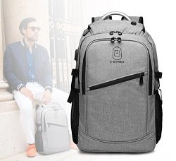 Business Laptop Backpack, 17 Inch Laptop Backpack Computer Bag For Women Men , Large Waterproof  ...