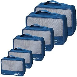 vallilan 6 pcs Packing Cubes Set,Travel Luggage Organizers made of Thick Durable Materials