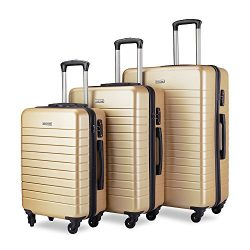 Luggage Set Spinner Hard Shell Suitcase Lightweight Luggage – 3 Piece (20″ 24″ ...