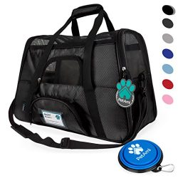 Premium Airline Approved Soft-Sided Pet Travel Carrier by PetAmi | Ventilated, Comfortable Desig ...