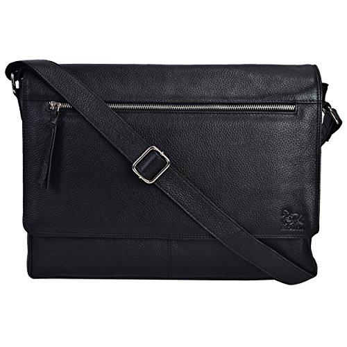 Leather Laptop Messenger Bag For Men Mens Office