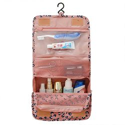 Cosmetic Makeup Bag Case, Hanging Toiletry Bag,Travel Organizer Travel Kit For Women Men (Pink L ...