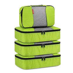 Travel Packing Cubes, Gonex Luggage Organizers 3 Medium+1 Small Green