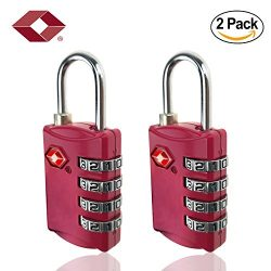 Tsa Approved Luggage Lock 4 Digit Combination TSA Padlock for Suitcase Travel Bag Backpack 2 Pac ...