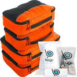 bago Packing Cubes For Travel Bags – Luggage Organizer 10pcs Set (Orange)