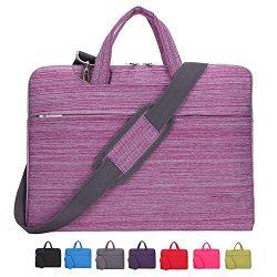 Laptop Case, Laptop Shoulder Bag, CROMI 14 14.1 Inch Simplicity Slim Briefcase Commuter Bag Busi ...