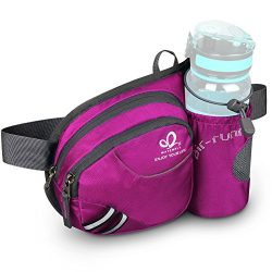 WATERFLY Hiking Waist Bag Can Hold iPhone6 Plus 5.5 inch Gear with Water Bottle Holder / Funny R ...