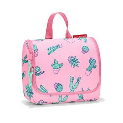 reisenthel Toiletbag S Kids, Small Hanging Travel Toiletry Organizer, Cactus Pink