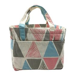 Insulated Lunch Bag Reusable Sling Shoulder Lunch Tote Travel Picnic Drawstring Bento Cooler Bag ...