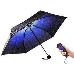 Ke.movan Travel Compact Umbrella Windproof Mini Sun & Rain Umbrella Ultra Light Parasol R ...