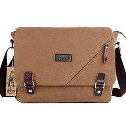 ibagbar Canvas Messenger Bag Shoulder Bag Laptop Bag Computer Bag Satchel Bag Bookbag School Bag ...