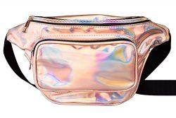 G-Fiend Women Waist Pack Holographic Shiny Fanny Pack Fashion Bum Bag