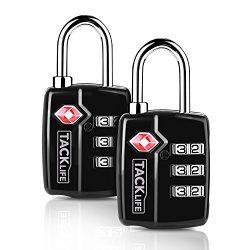 TSA Luggage Locks 2 Packs Combination Steel Padlocks Tacklife HCL3A Travel Lock for Suitcases &a ...