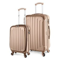 "TravelCross Victoria Lightweight Hardshell Spinner Luggage (Champagne, 2-piece set (20"" /  ..."