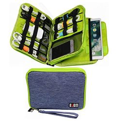 Electronics Organizer Travel Bag Accessories Cable Cord Gadget Gear Storage Cases iPad Pro 10.5  ...