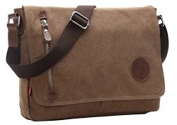 AIBAG Messenger Bag, Canvas Crossbody Bag for Women and Men