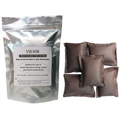 Activated Carbon Air Purifying Freshener Coconut Shell Charcoal Bags – 5 Packs Odor Absorb ...