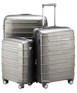 HAUPTSTADTKOFFER Ostkreuz Luggages Set Matt Suitcase Set Hardside Spinner Trolley Expandable (20 ...