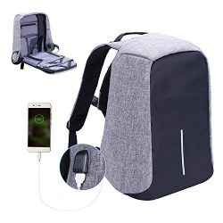 Laptop Backpack , Lightweight Water Resistant computer backpack with USB Charging Port large cap ...