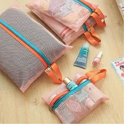 4Pcs Mesh Bags Clothes Storage Bags Packing Cube Travel Luggage Organizer Pouch