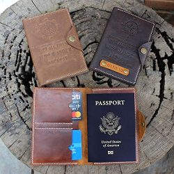 Soulmate Full Grain Leather Passport Cover, Handmade Travel Wallet, Passport Holder, Handmade Le ...