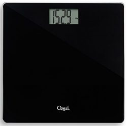 Ozeri Precision Bath Scale (440 lbs / 200 kg) in Tempered Glass, with 50 gram Sensor Technology  ...