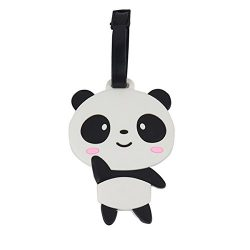Onway Cute Cartoon Panda Suitcase Luggage Tags, Silicone Travel Luggage ID Tag for Kids