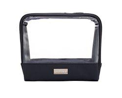 LE LÜXACE Onyx + Diamond Jetsetter Case – Premium Toiletry Travel Bag – Luxury Black ...