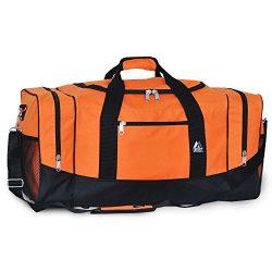 Everest Luggage Sporty Gear Bag – Large (One Size, Orange)