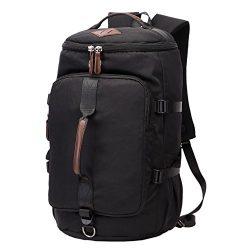 Travel Backpacks for Men, Yousu Vintage Duffle Bag College Backpack Student Bookbags Casual Daypack
