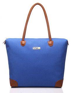 NNEE Water Resistance Nylon Tote Bag & Multiple Pocket Design – Bright Blue