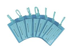 7 Pack TravelMore Luggage Tags For Suitcases, Flexible Silicone Travel ID Identification Labels  ...