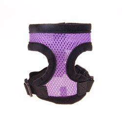 Puppy Harness,Neartime Breathable Pet Harness Adjustable Doggy Chest Strap Soft Leash Set (M, Pu ...