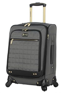 Steve Madden Luggage Carry On 20″ Expandable Softside Suitcase With Spinner Wheels (Cubica ...