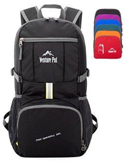 Venture Pal 35L Travel Backpack – Packable Durable Lightweight Hiking Backpack Daypack (Black)