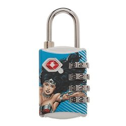DC Comics Wonder Woman Graphic Design TSA Approved Travel Combination Luggage Lock for Suitcase  ...