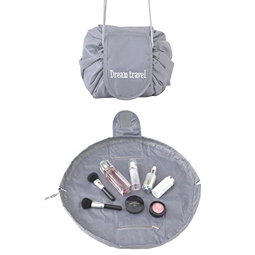 Lazy Portable Makeup Bag Travel Cosmetic Bag Waterproof Drawstring Toiletry Storage Organizer Ca ...