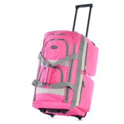 Olympia Luggage Sports Plus 29 Inch 8 Pocket Rolling Duffel Bag, Hot Pink, One Size