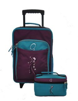 Obersee Kids Luggage and Toiletry Bag Set, Butterfly