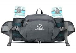 WATERFLY Fanny Pack with Water Bottle Holder Hiking Waist Pack Bag Running Belt Outdoor Sport Lu ...