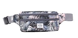 521s Fashion Waist Bag Cute Fanny Pack   8.0″x2.5″x4.3″   Feathers, Grey