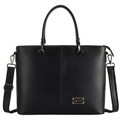 IAITU Laptop Bag for Women, Stylish Handbag Fits 15-15.6 inch Laptop Multi Compartments Work Bag ...