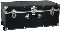 Seward Trunk SWD6113-18 30-Inch Footlocker with Wheels, Black, One Size