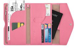 Travelambo Rfid Blocking Passport Holder Wallet & Travel Wallet Envelope (pink)