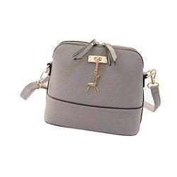 Bag Women ,Kaifongfu New Messenger Bags Vintage Small Shell Leather Handbag Casual Bag (Size: 25 ...