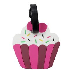 Luggage Tags for Kids and Adult Suitcases Backpacks or Bags (Cupcake)