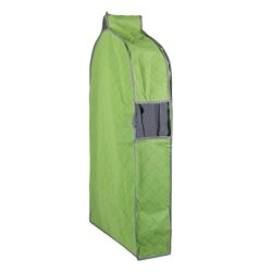 uxcell Non-woven Fabric Household Zippered Clothing Clothes Dress Garment Suit Cover Bag Green