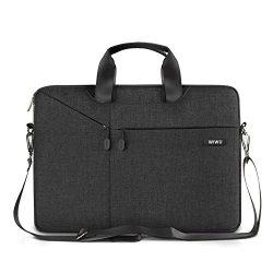 WIWU 13.3 Inch Laptop Sleeve Case Messenger Shoulder Bag Padded Nylon Shockproof Waterproof Brie ...