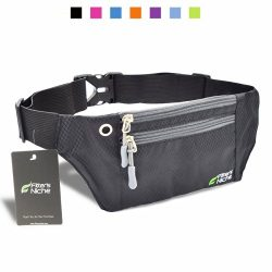fitter's niche Waist Fanny Packs, 3 Pockets Travel Money Bag, Water Resistant Elastic Adju ...